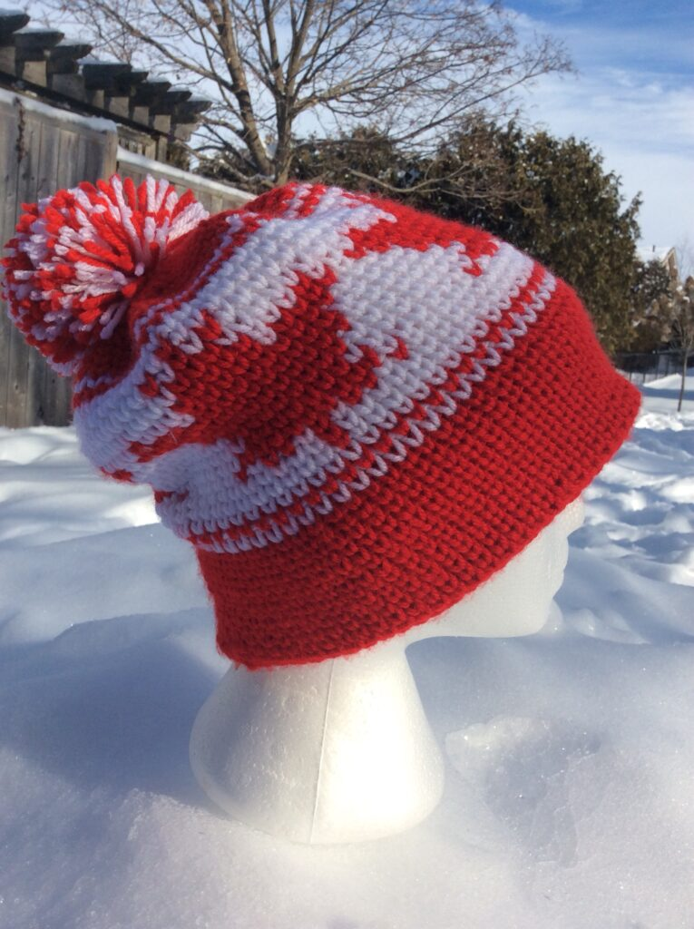 Maple Leaf Toque Hat A Free Crochet Pattern Rich