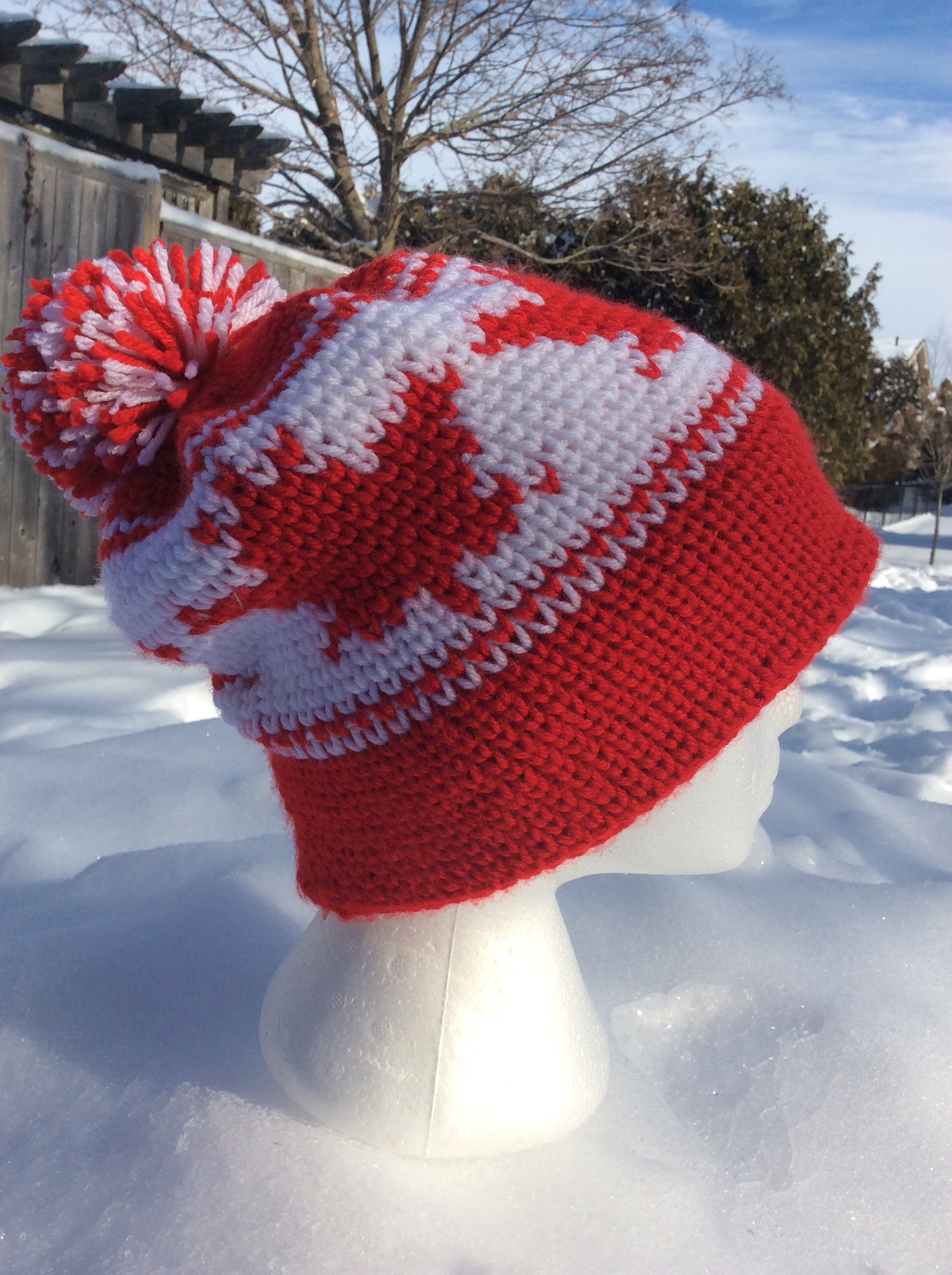 Crochet Maple Leaf Hat