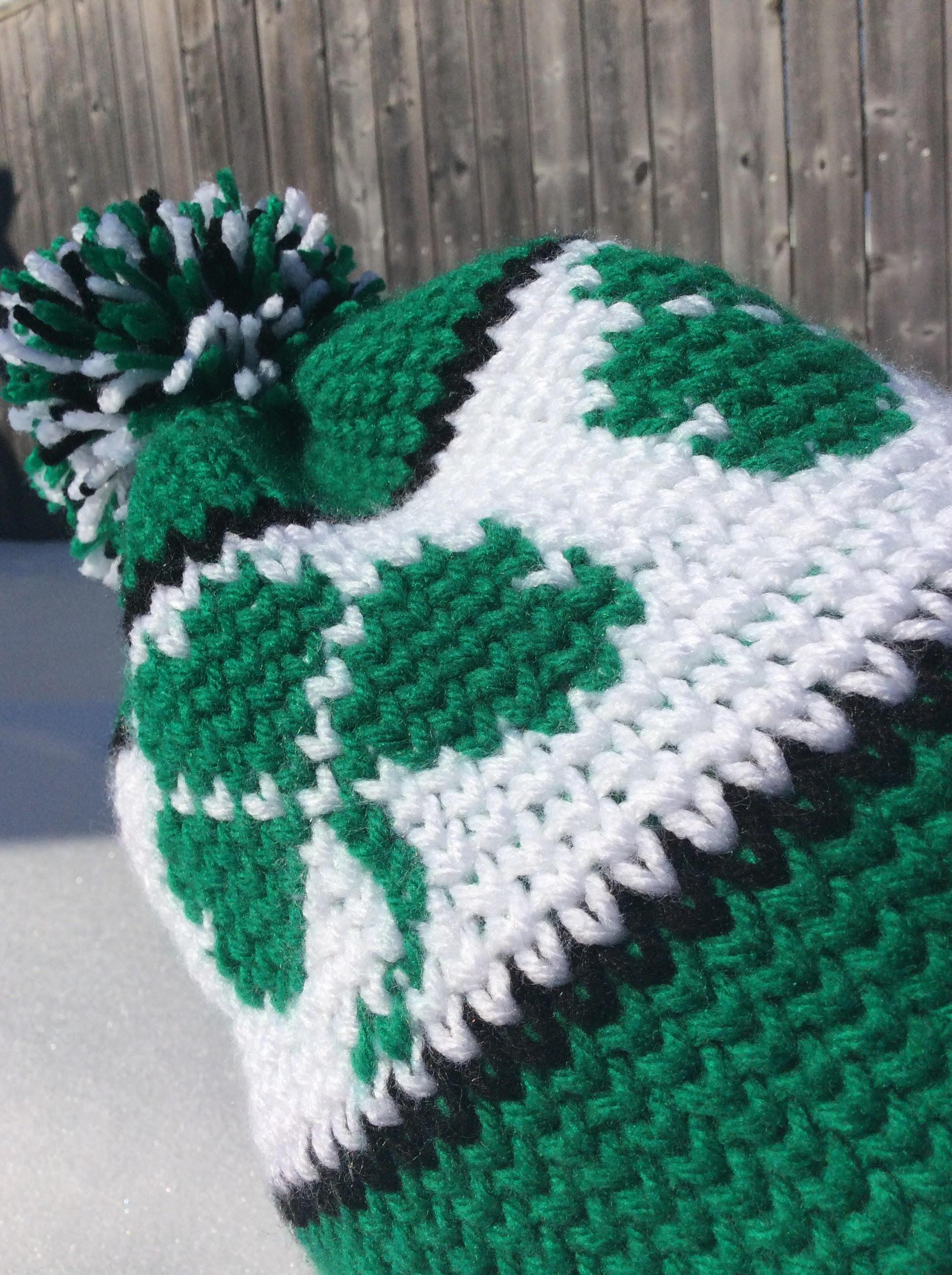 St. Patricks Day shamrock crochet hat