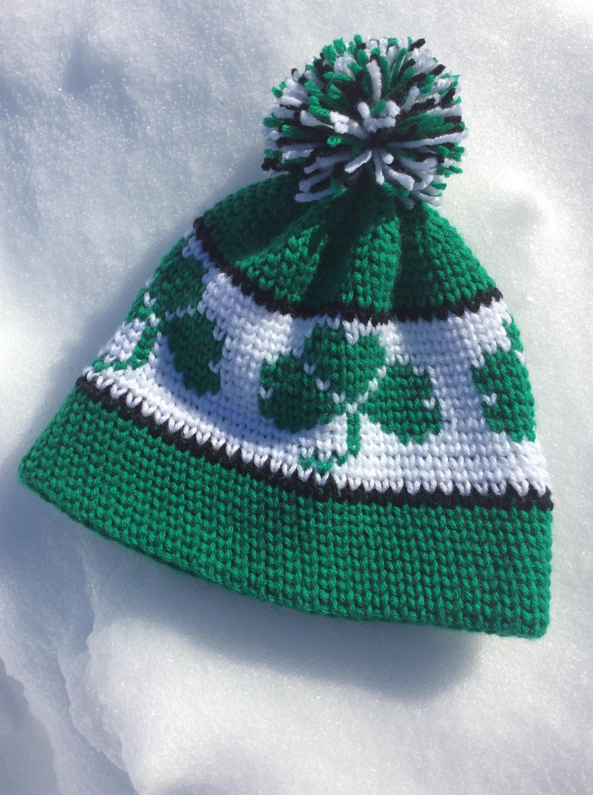 easy crochet shamrock hat