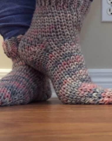 cozy cottage crochet socks