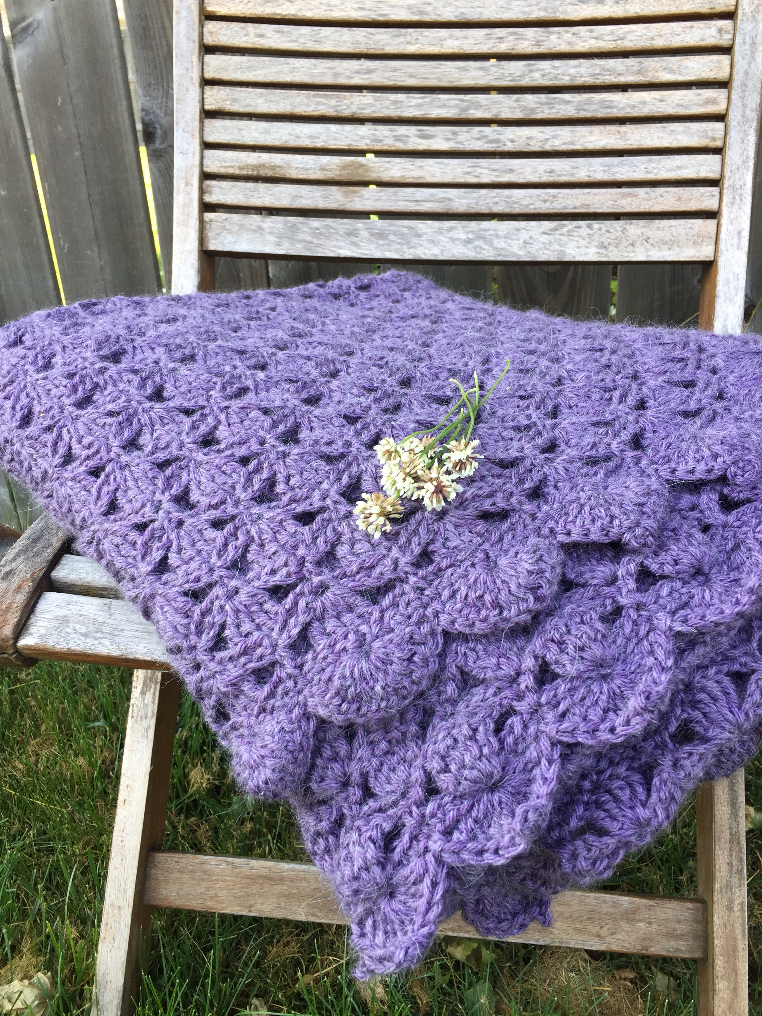 clover meadows crochet throw