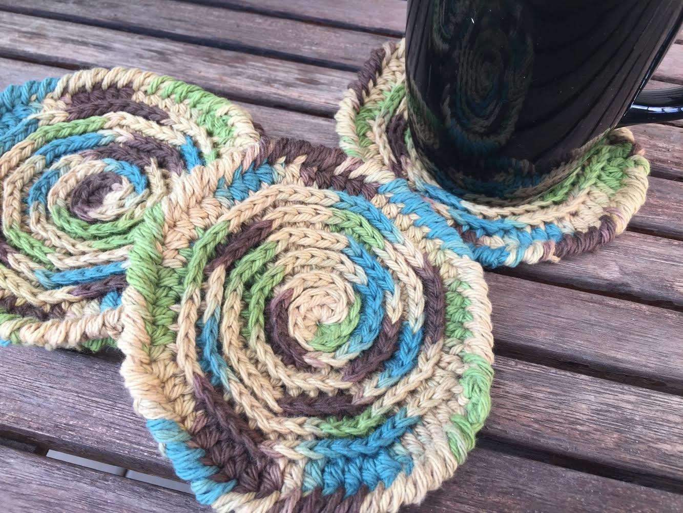 easy crochet country coasters