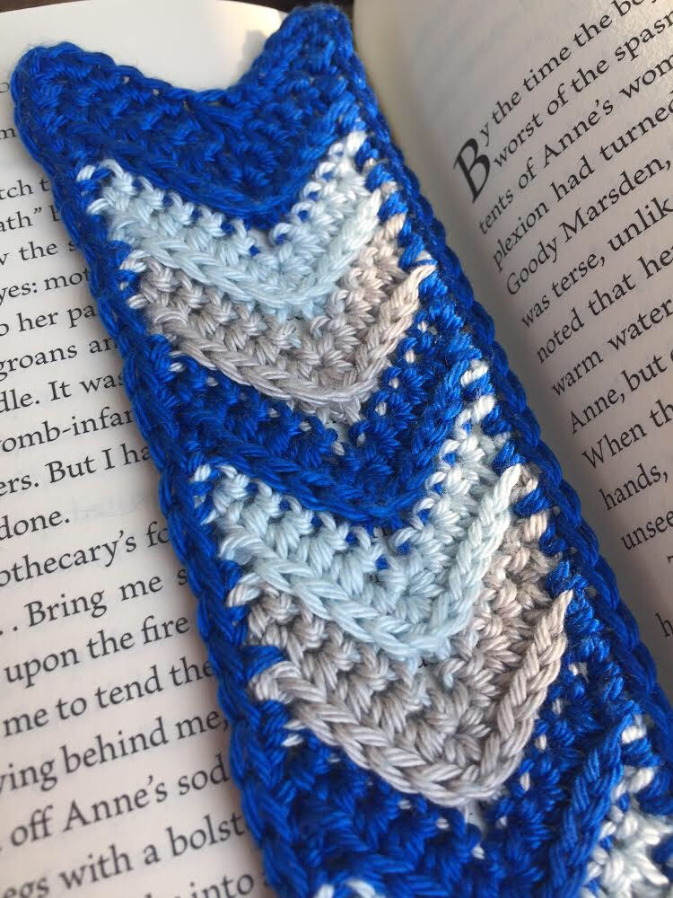 crochet chevron bookmark