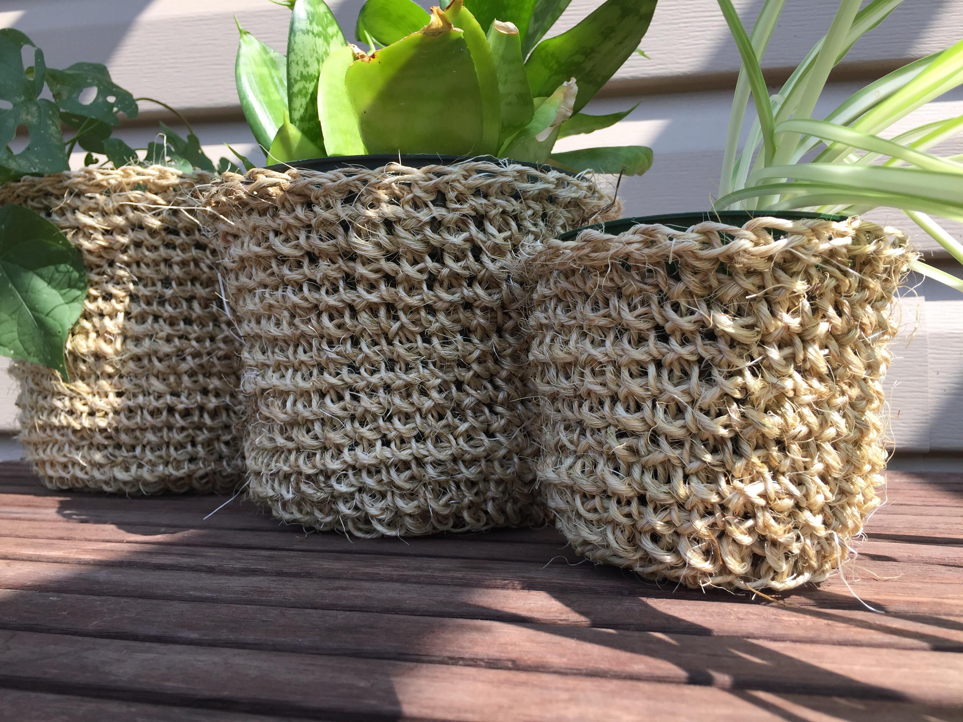 Twine Plant Pot Cozy