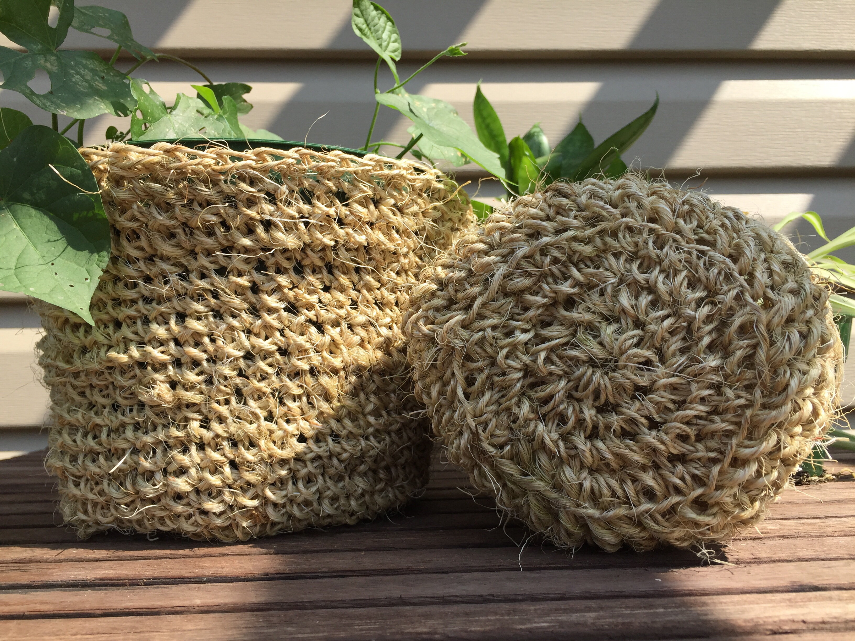 crochet plant pot cozy