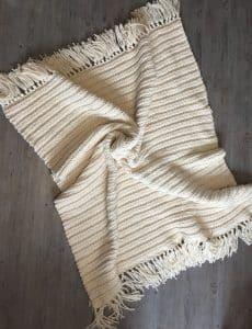 classic looking crochet blanket