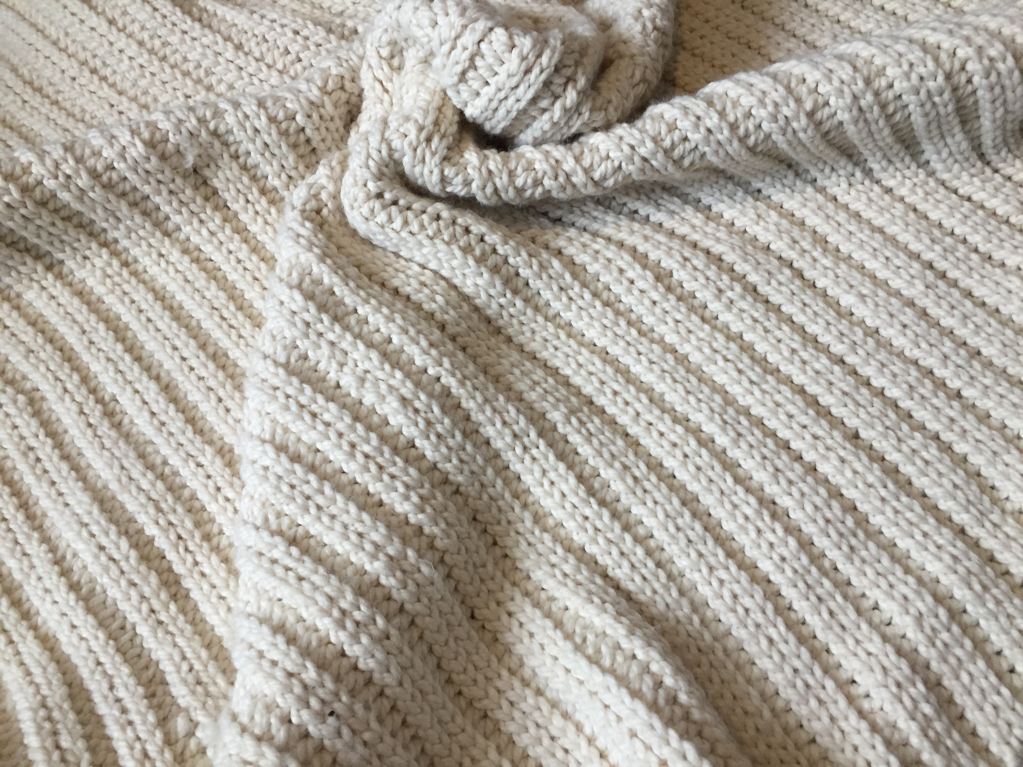 close up of a crochet blanket