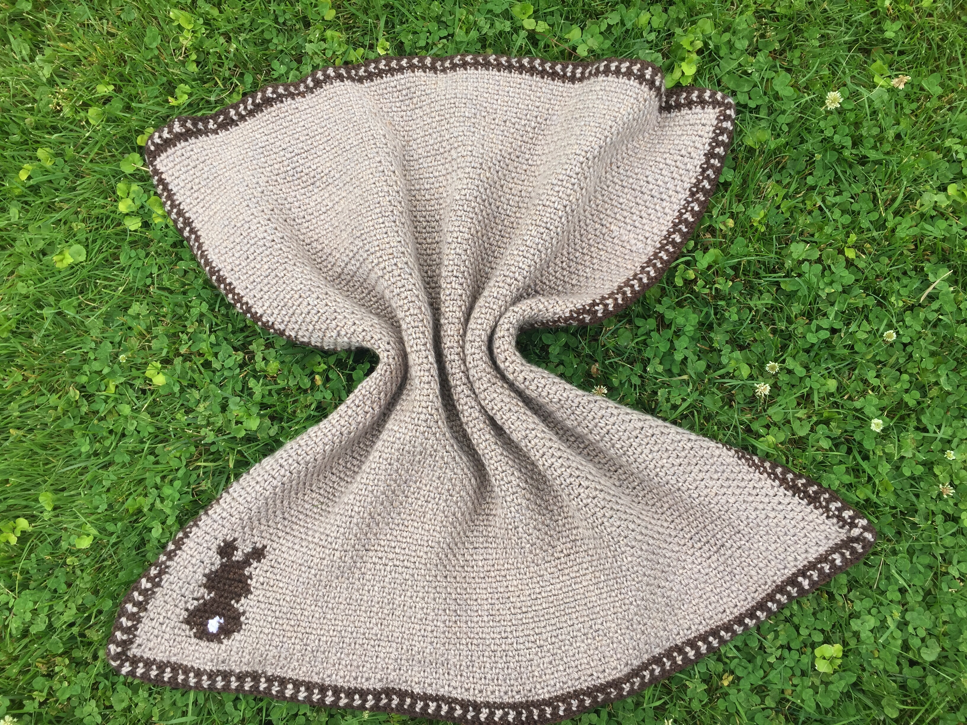 Bunny Silhouette Baby Blanket Free Crochet Pattern Rich Textures Crochet
