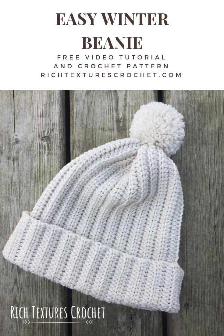 easy crochet hat Pinterest graphic