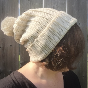 easy winter crochet beanie ribbed hat