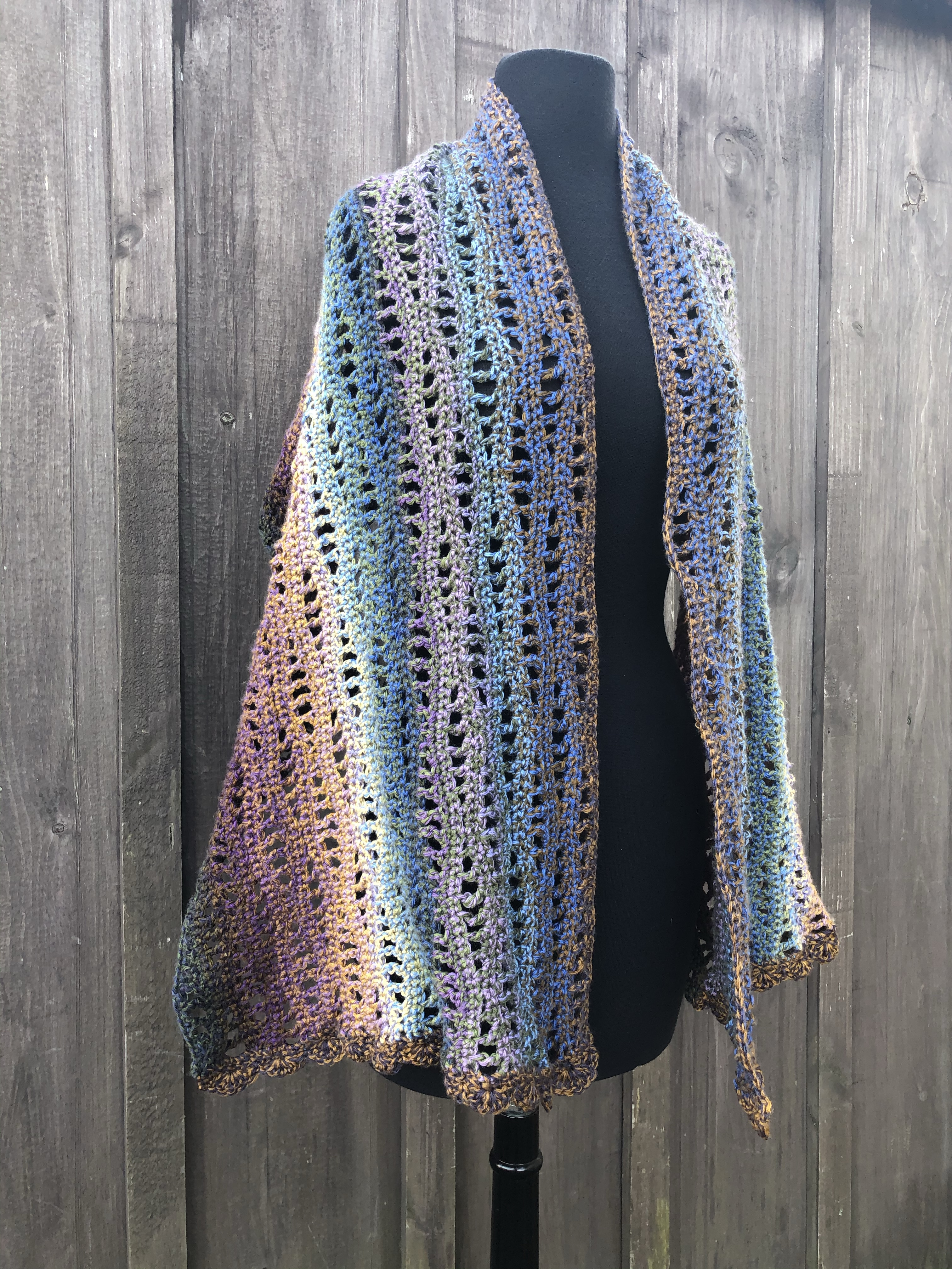 Easy Crochet Shawl2
