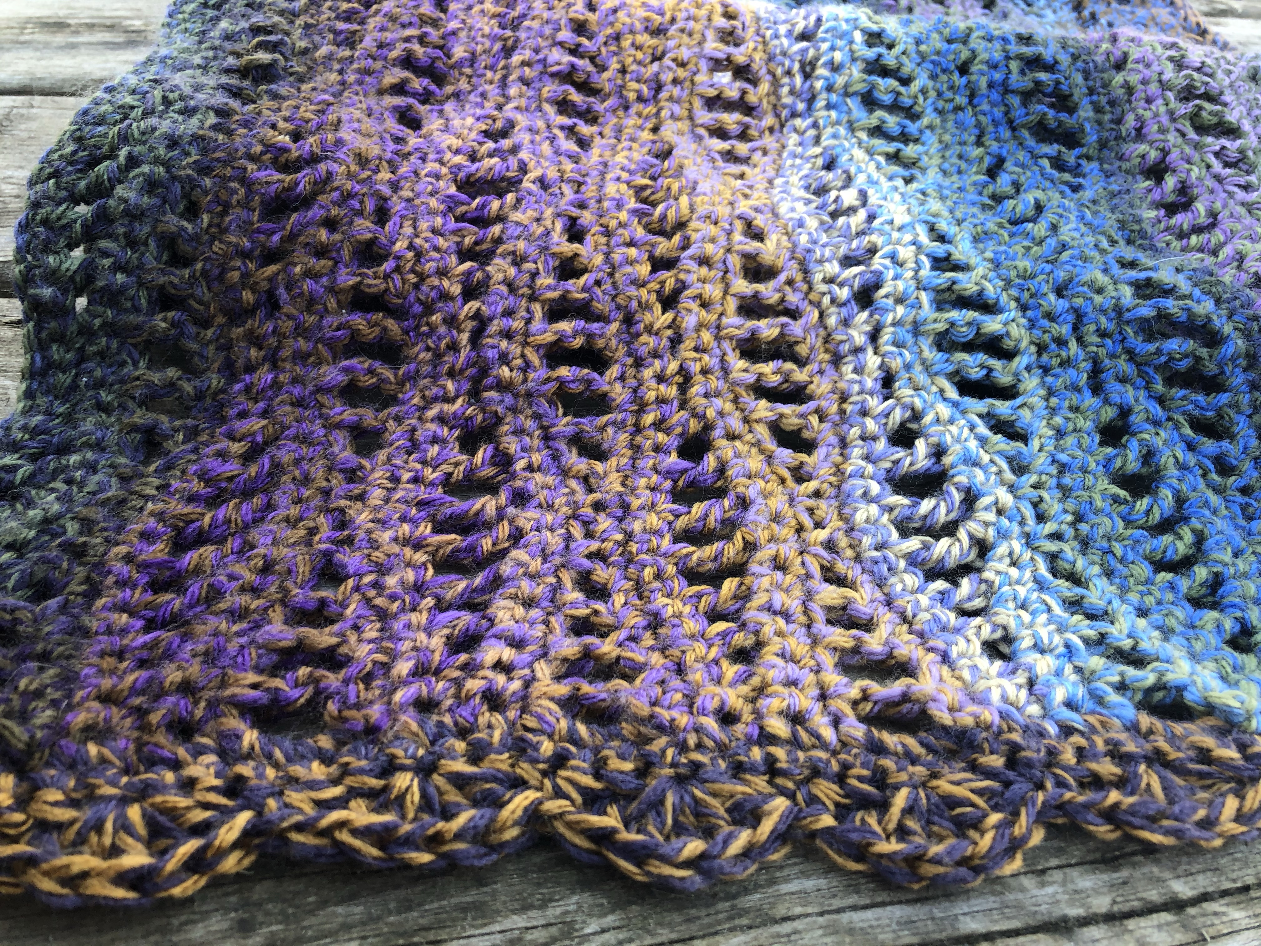 Easy Crochet Shawl Edging