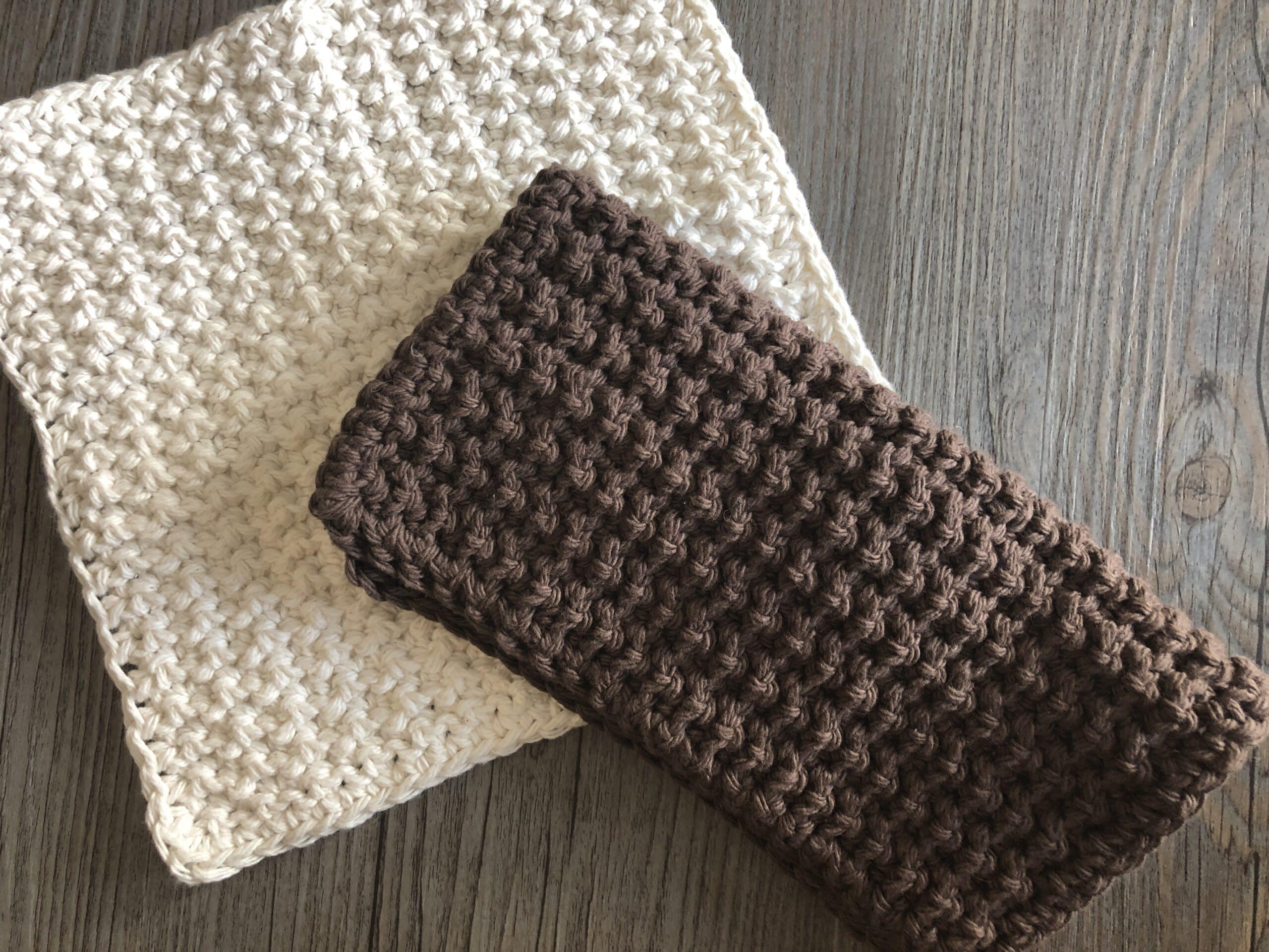 In A Crunch Washcloth Free Crochet Pattern Rich Textures Crochet