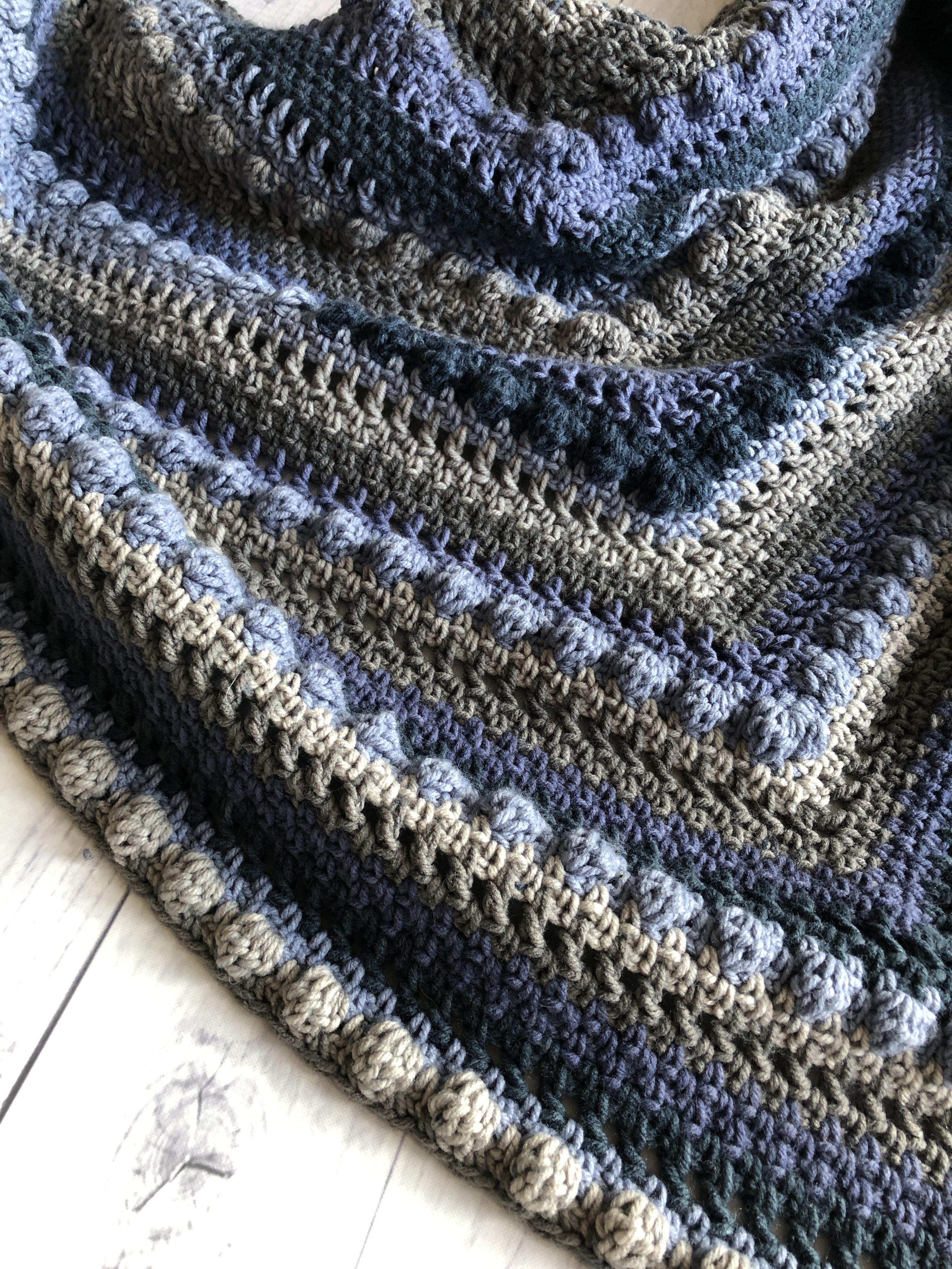 Crochet Triangle Shawl4