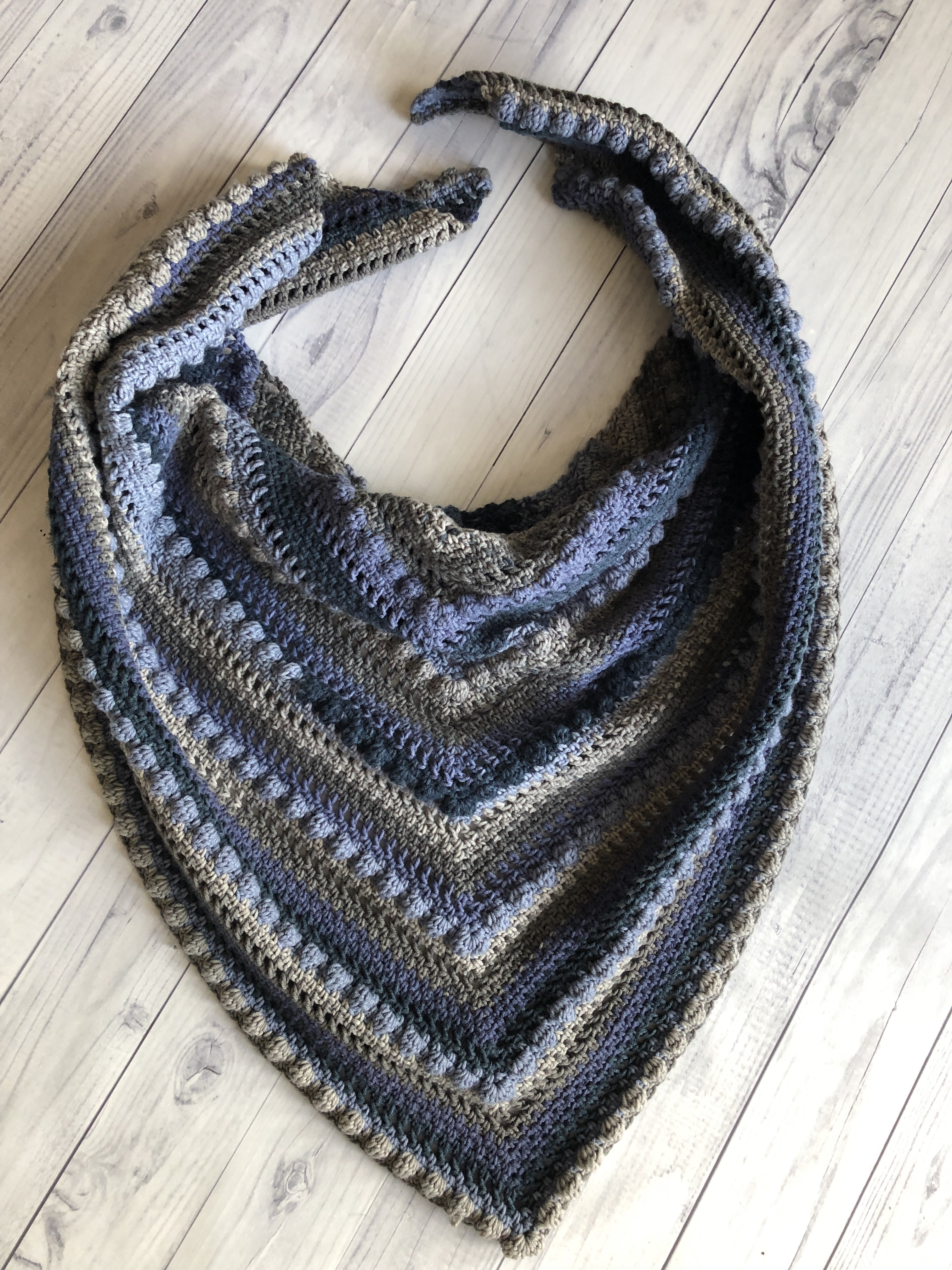 Crochet Triangle Shawl1