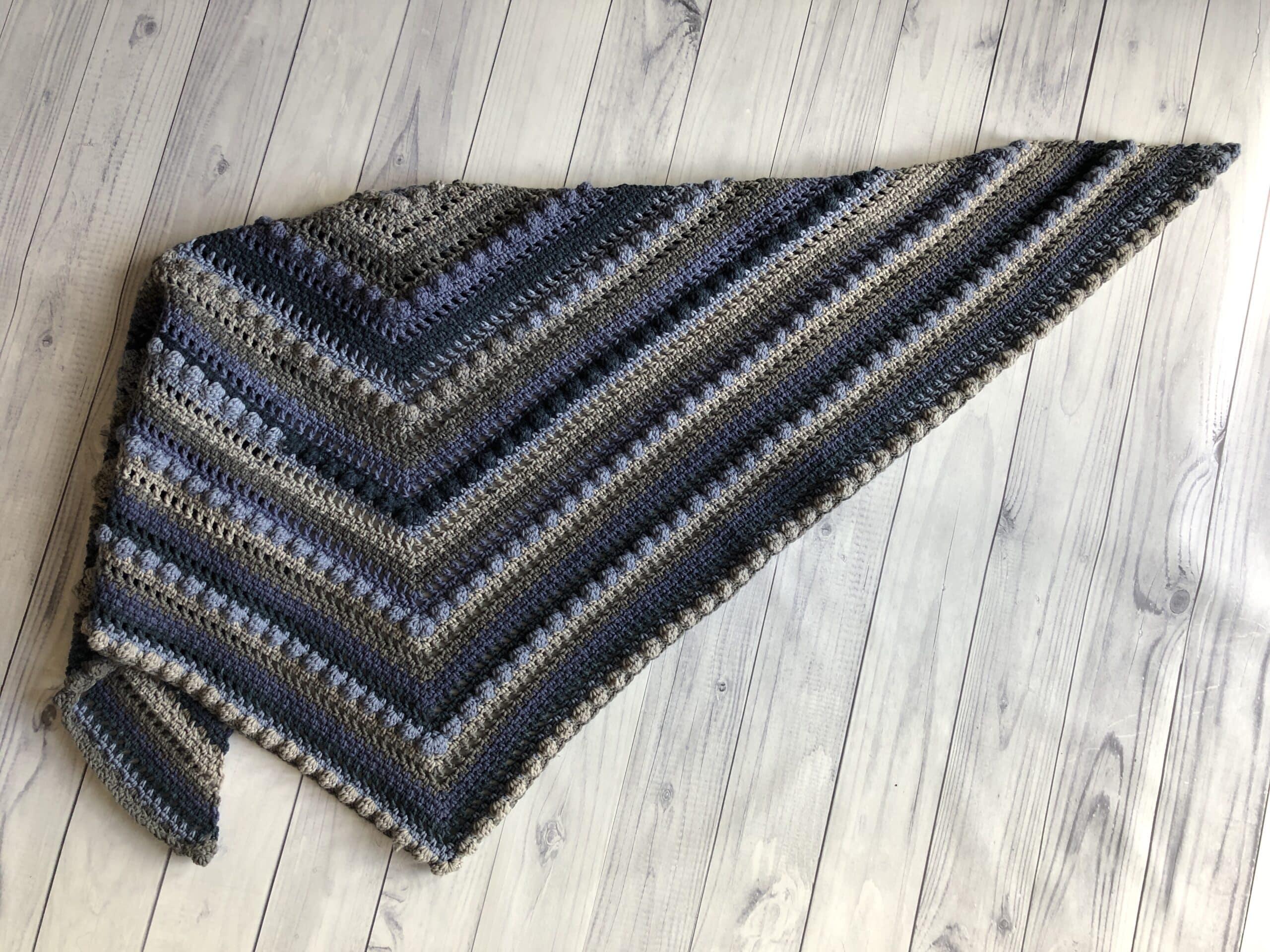 Crochet Triangle Shawl5