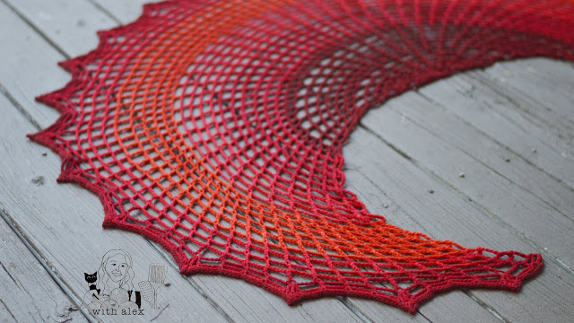 Sunset on Fire Shawl