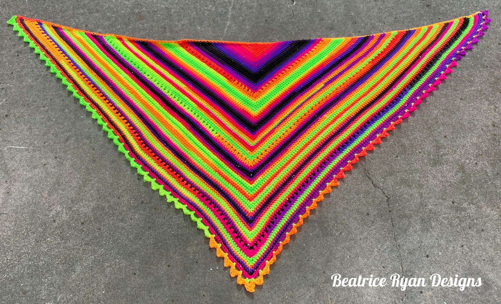 Beautifully-Bright-Triangle-Shawl
