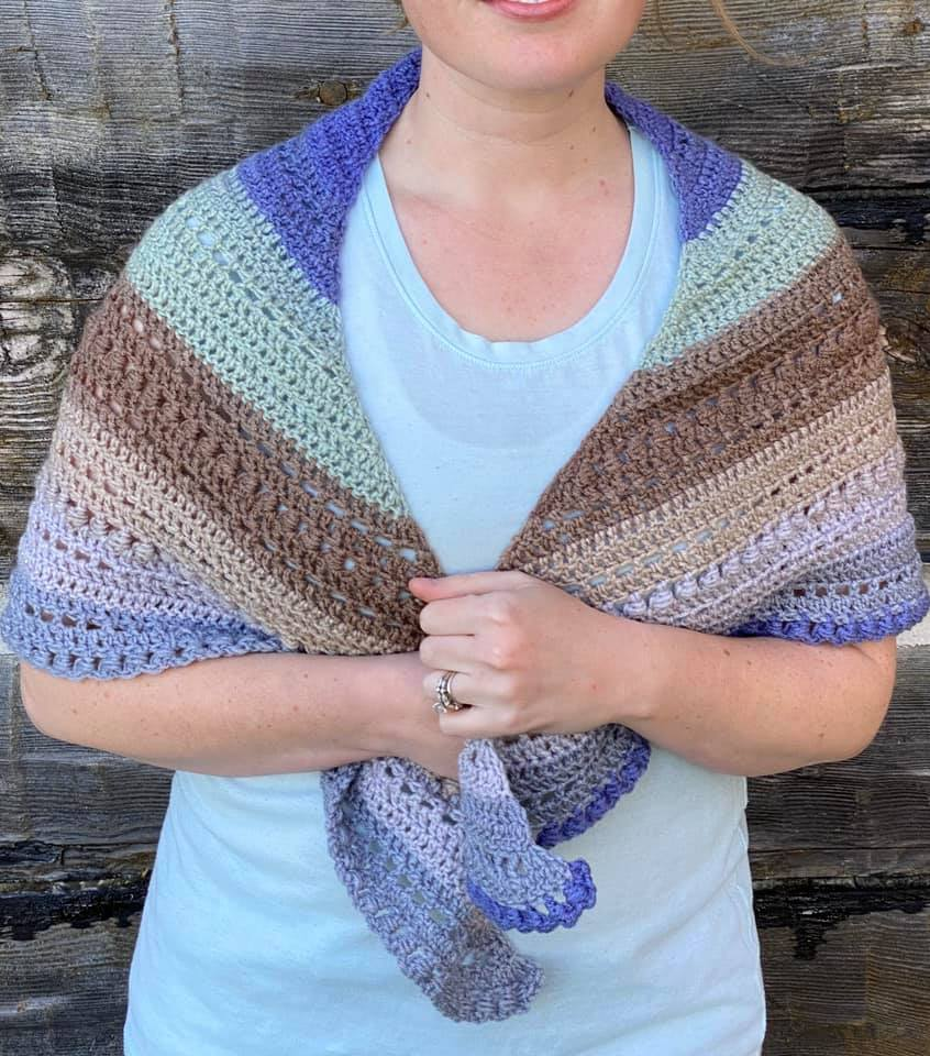 Evies Crochet Shawl