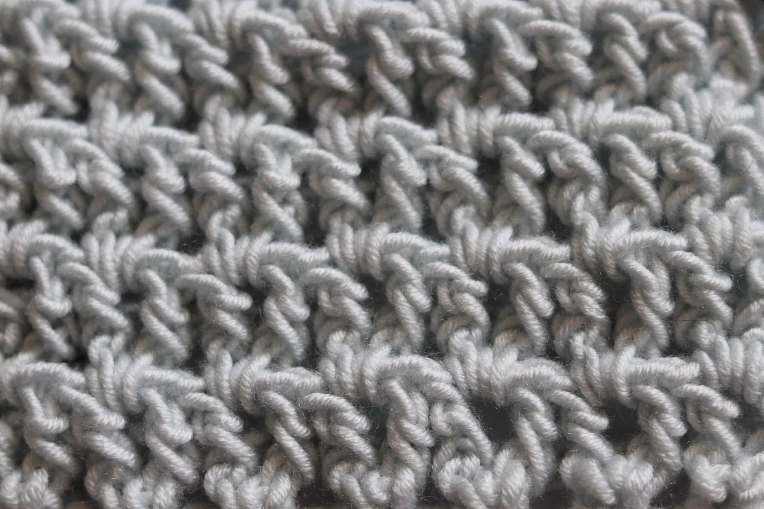 close up photo white yarn
