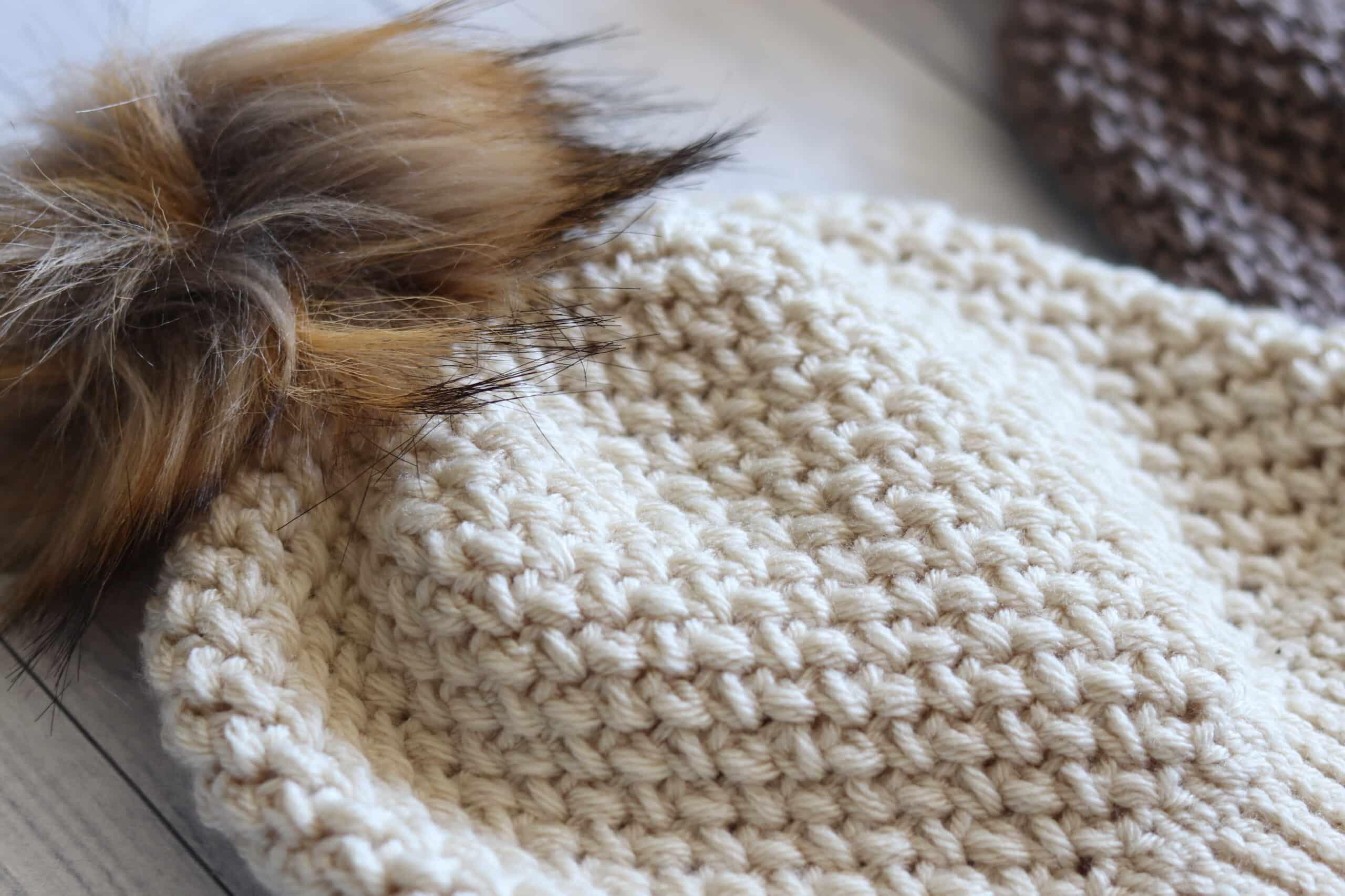 Crochet Beanie texture Elizabeth Stitch