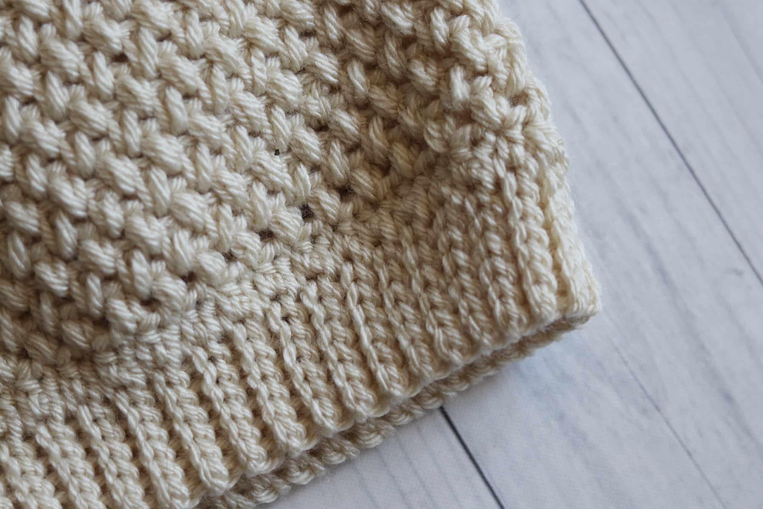crochet hat brim slip stitch Elizabeth Beanie