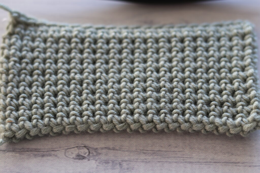 Single Crochet Thermal Stitch close up