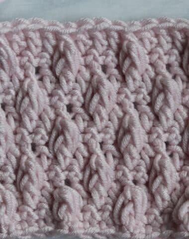 Falling Leaves crochet Stitch pink yarn Furls Crochet hook