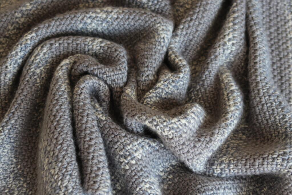 easy crochet blanket moss stitch