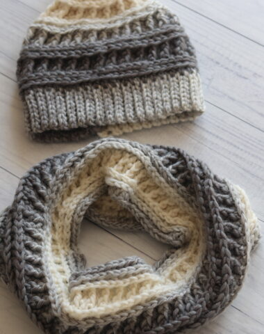misty beanie hat and cowl