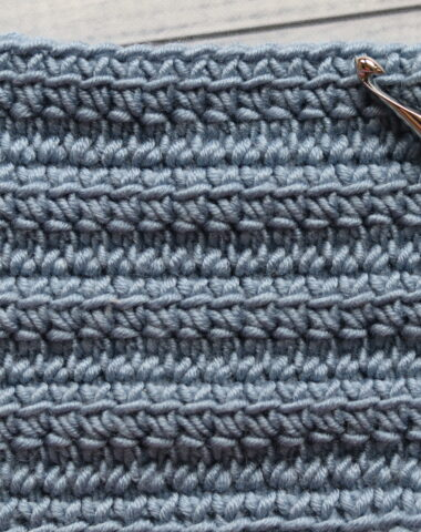 linked double crochet stitch swatch