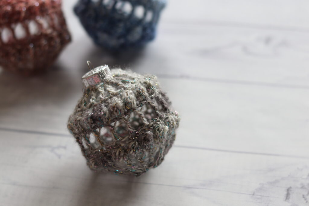 vintage lace crochet Christmas ornament