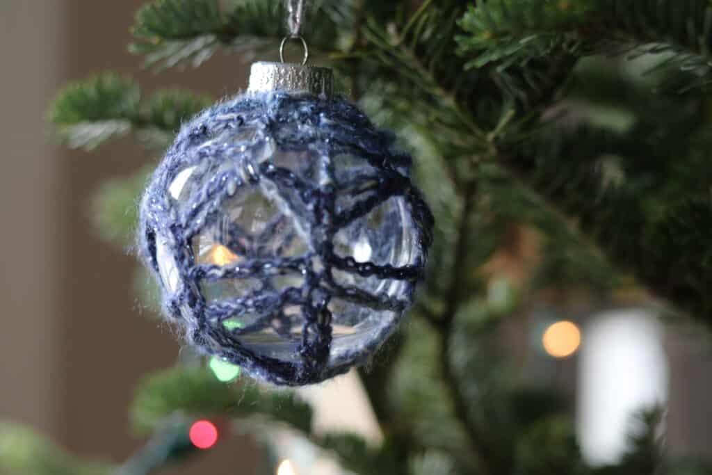 lacy crochet DIY Christmas ornament