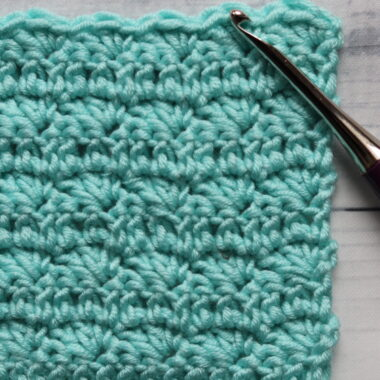 crochet silt stitch in blue