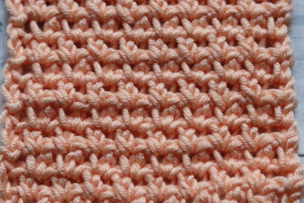 crochet pike stitch colour coral