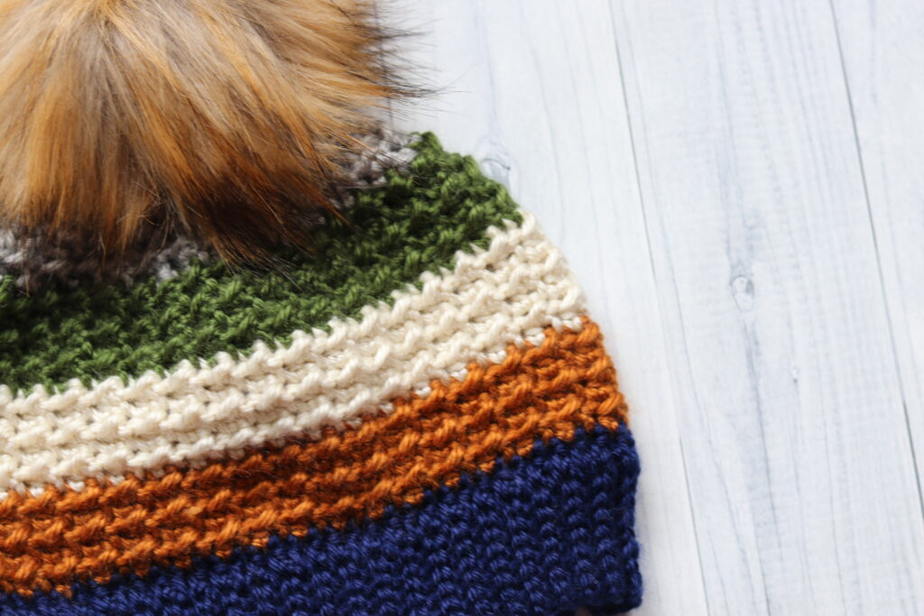 close up of the Terra Nova Crochet Beanie
