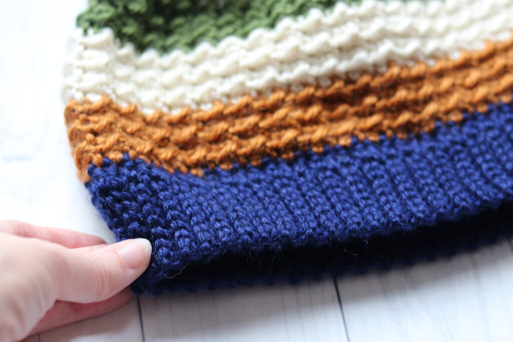 crochet beanie slip stitch brim