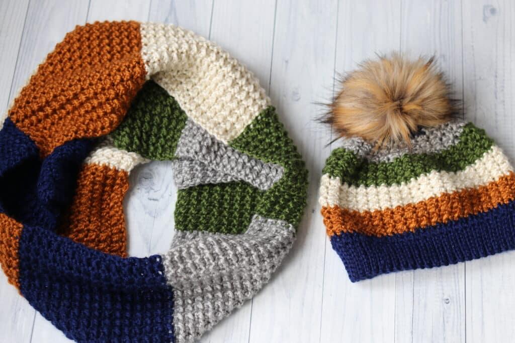 the terra nova beanie and crochet scarf