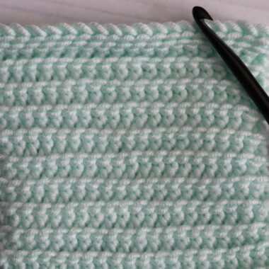 crochet purl slip stitch in aqua colour