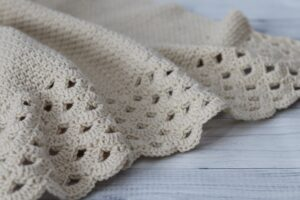 crochet blanket lay on floor