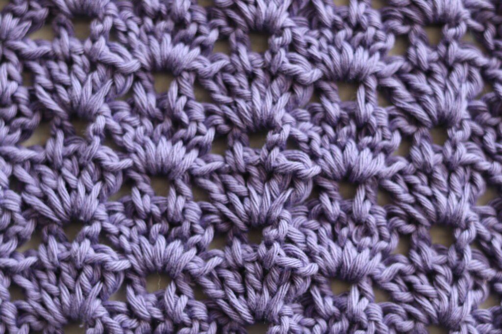 close up of the thistle stitch how to crochet