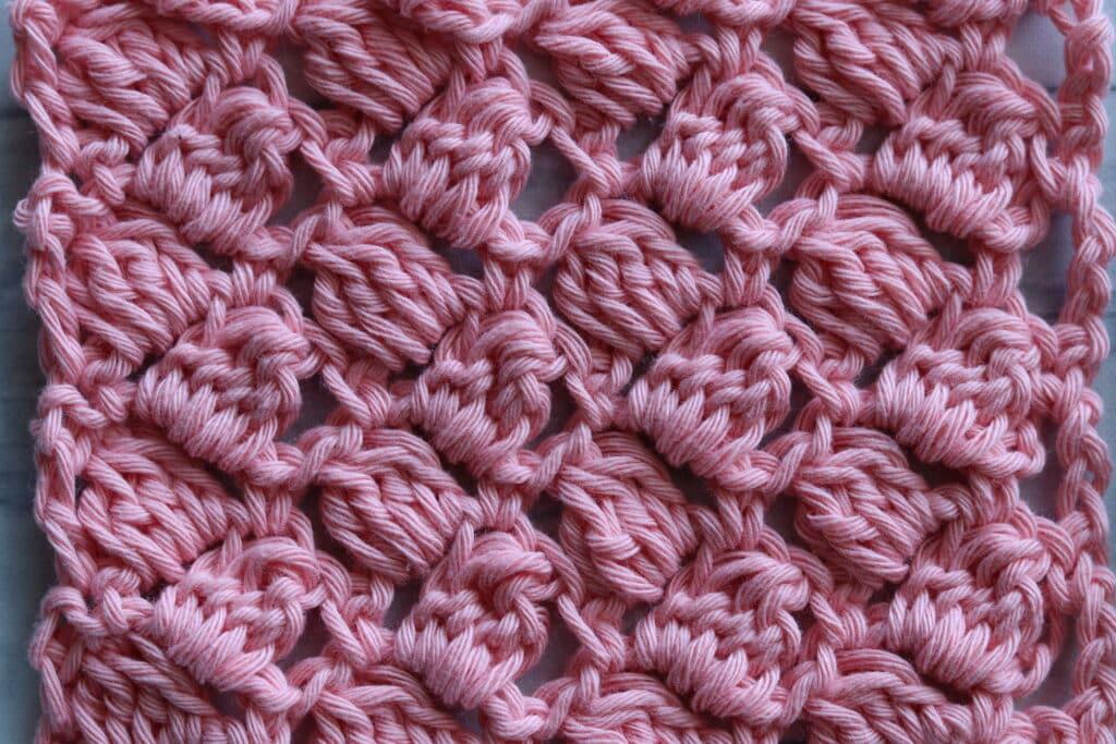 side saddle crochet stitch