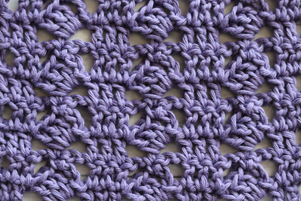 the tilted rows crochet stitch