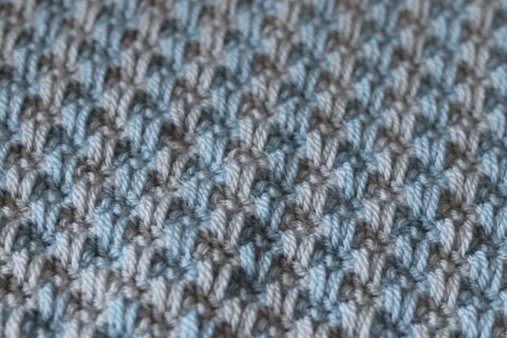 close up of the texture in the Woven Afghan Square