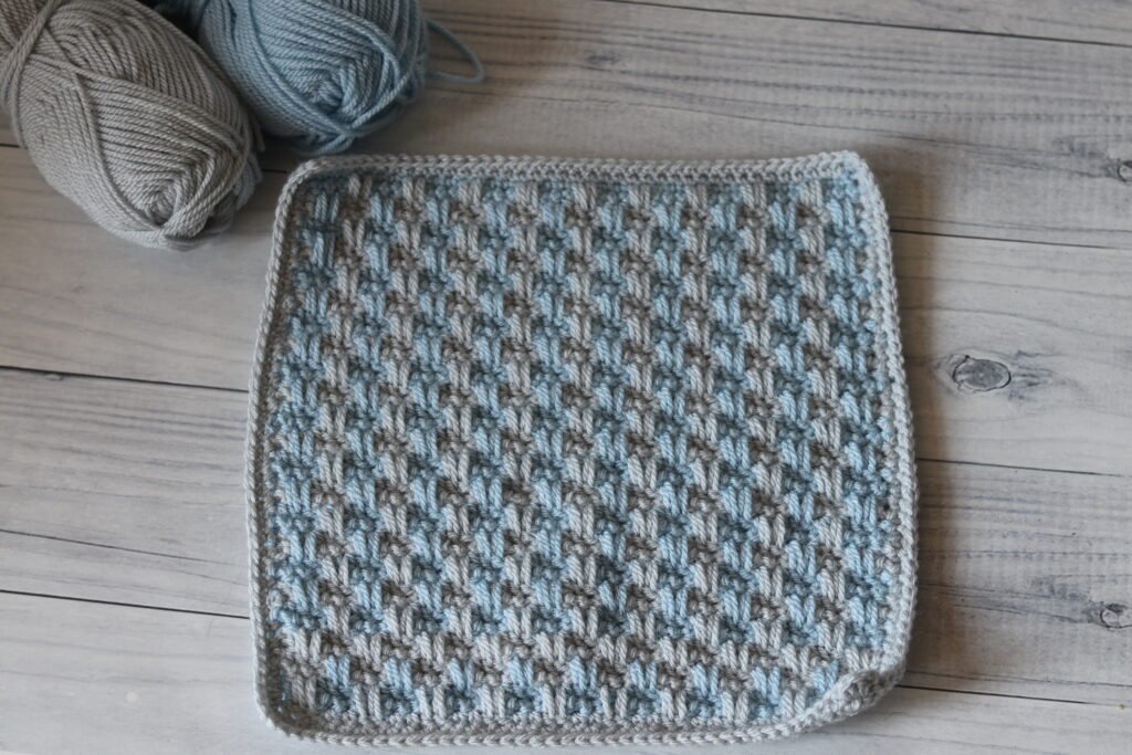 textured crochet afghan square