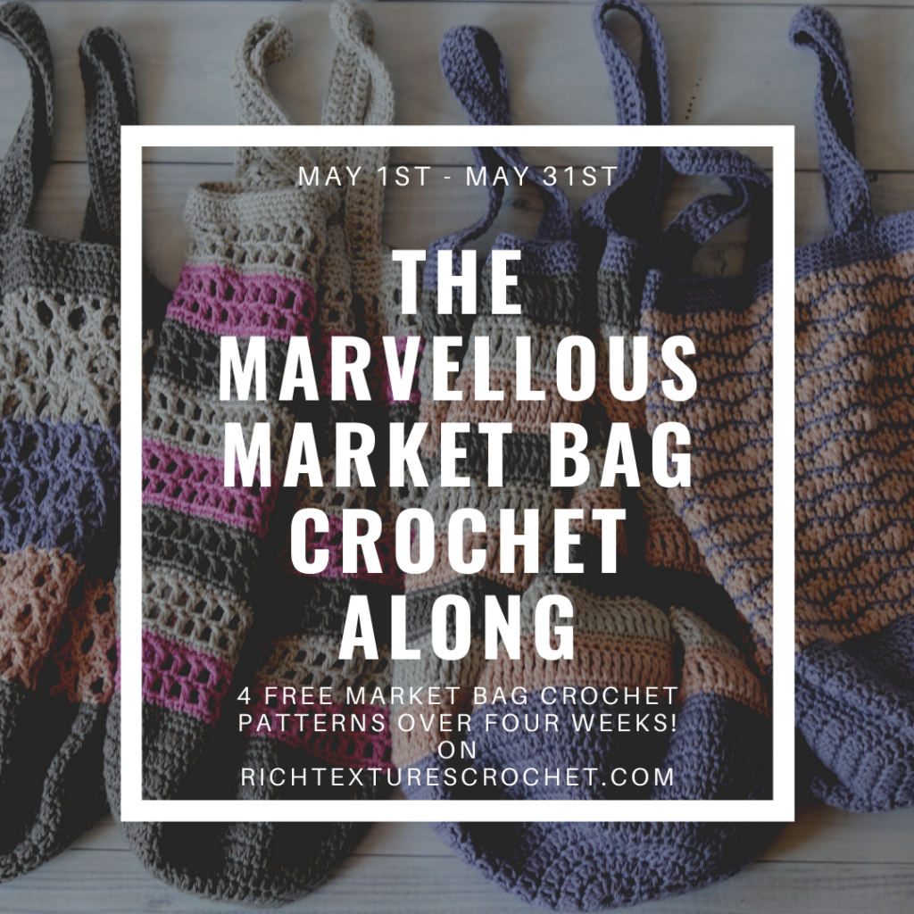 Advertising photo for market bag crochet along