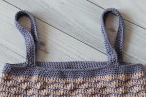 crochet market bag handles