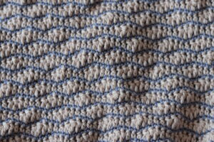crochet wave stitch in pink and purple