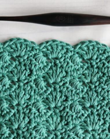 swatch of the interlocking crochet stitch